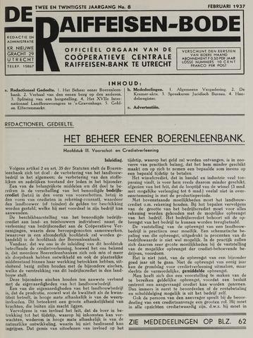 blad 'De Raiffeisen-bode' (CCRB) 1937-02-01