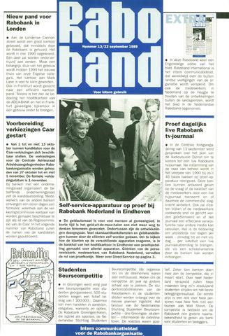 blad 'Raboband' 1989-09-22