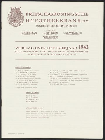 Jaarverslagen Friesch-Groningsche Hypotheekbank / FGH Bank 1942