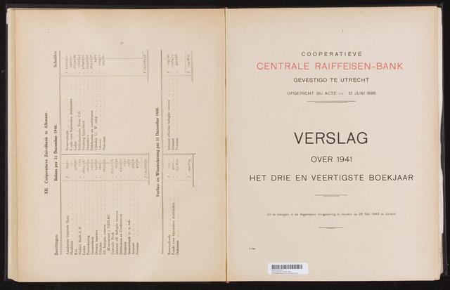 Jaarverslagen Coöperatieve Centrale Raiffeisen-Bank 1941-12-31