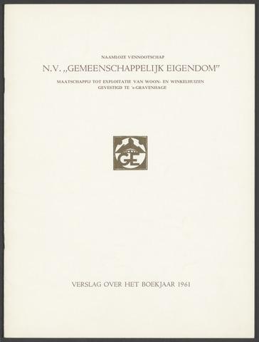 Jaarverslagen Gemeenschappelijk Eigendom 1961