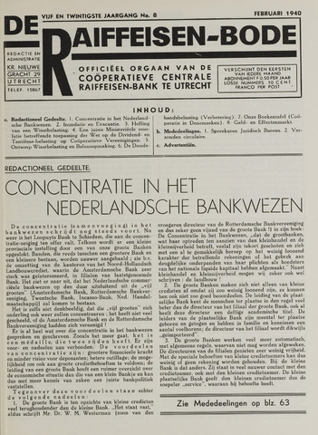 blad 'De Raiffeisen-bode' (CCRB) 1940-02-01