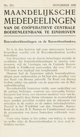 blad 'Maandelijkse Mededelingen' (CCB) 1935-11-01
