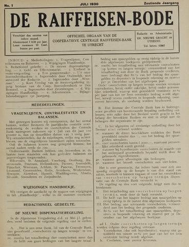 blad 'De Raiffeisen-bode' (CCRB) 1930-07-01
