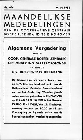 blad 'Maandelijkse Mededelingen' (CCB) 1954-03-01