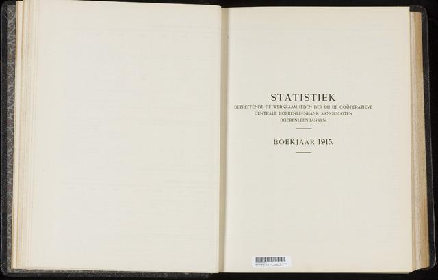 Statistiek aangesloten banken CCB 1915
