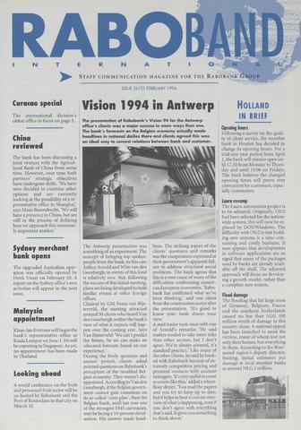 blad 'Raboband International' (EN) 1994-02-21