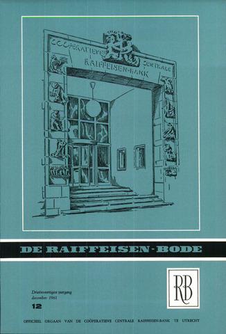 blad 'De Raiffeisen-bode' (CCRB) 1961-12-01