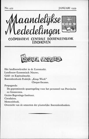 blad 'Maandelijkse Mededelingen' (CCB) 1959-01-01