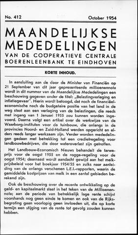 blad 'Maandelijkse Mededelingen' (CCB) 1954-10-01