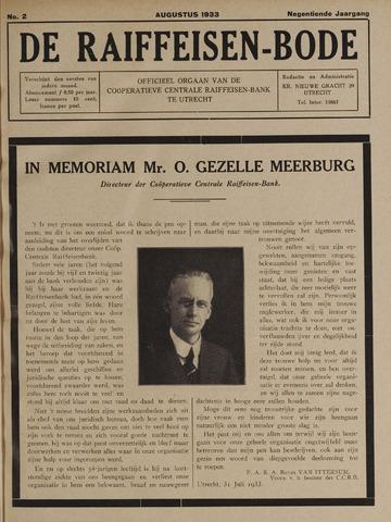 blad 'De Raiffeisen-bode' (CCRB) 1933-08-01