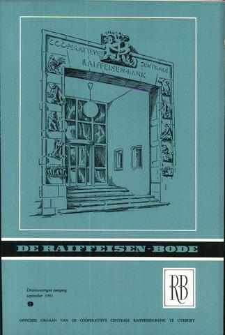 blad 'De Raiffeisen-bode' (CCRB) 1961-09-01