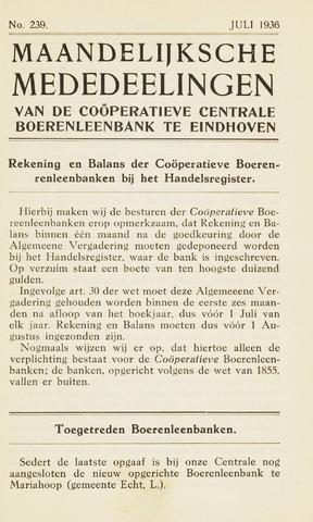 blad 'Maandelijkse Mededelingen' (CCB) 1936-07-01
