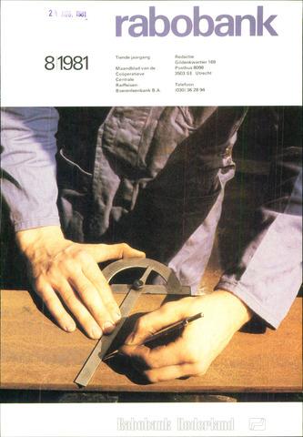 blad 'Rabobank' 1981-08-01