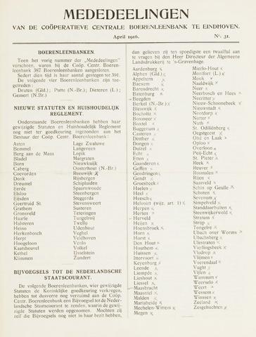 blad 'Mededeelingen' (CCB) 1916-04-01