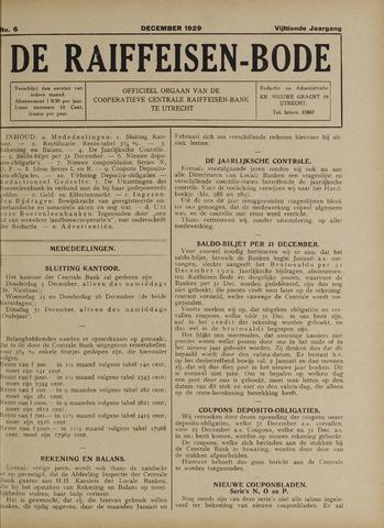 blad 'De Raiffeisen-bode' (CCRB) 1929-12-01