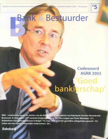 blad 'Bank & Bestuurder' 2003-09-01