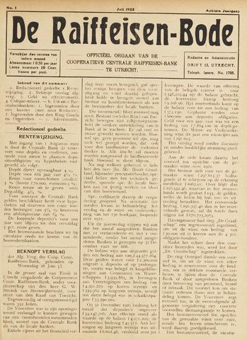 blad 'De Raiffeisen-bode' (CCRB) 1922-07-01