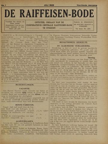 blad 'De Raiffeisen-bode' (CCRB) 1928-07-01