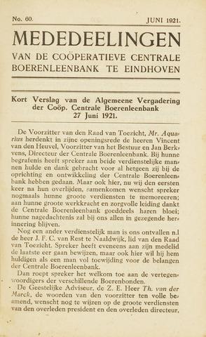 blad 'Maandelijkse Mededelingen' (CCB) 1921-06-01