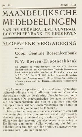 blad 'Maandelijkse Mededelingen' (CCB) 1941-04-01