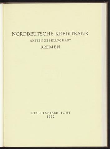 Geschäftsberichte Norddeutsche Kreditbank 1962-01-01