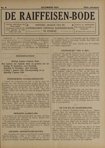 blad 'De Raiffeisen-bode' (CCRB) 1925-12-01