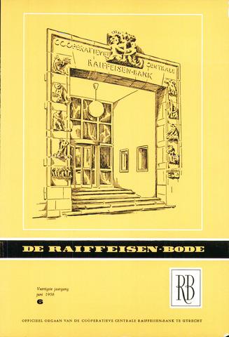 blad 'De Raiffeisen-bode' (CCRB) 1958-06-01