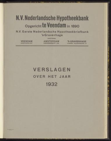 Jaarverslagen Nederlandsche Hypotheekbank 1932-01-01