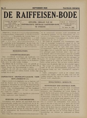 blad 'De Raiffeisen-bode' (CCRB) 1928-09-01
