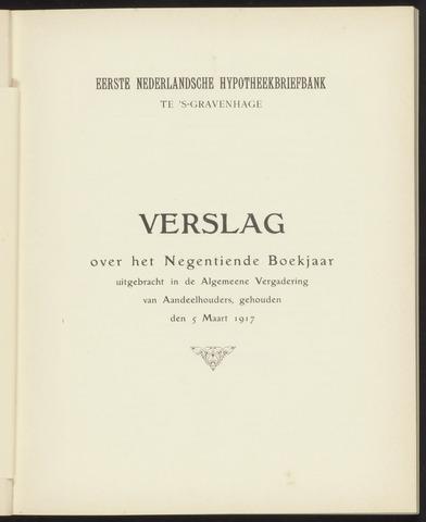 Jaarverslagen Eerste Nederlansche Hypotheekbriefbank 1916
