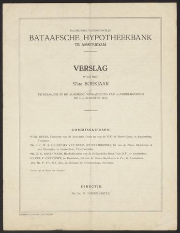 Jaarverslagen Bataafsche Hypotheekbank 1946