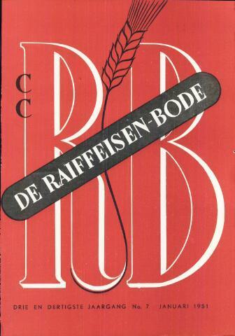blad 'De Raiffeisen-bode' (CCRB) 1951