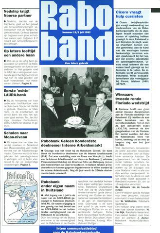 blad 'Raboband' 1992-07-06
