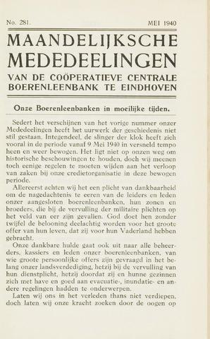 blad 'Maandelijkse Mededelingen' (CCB) 1940-05-01