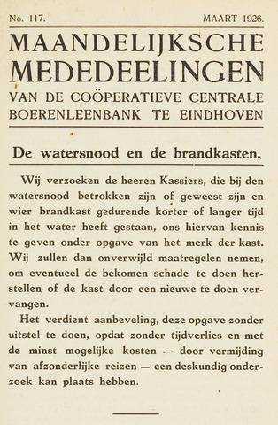 blad 'Maandelijkse Mededelingen' (CCB) 1926-03-01