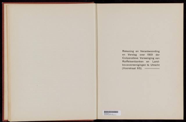 Jaarverslagen Coöperatieve Centrale Raiffeisen-Bank 1901-12-30