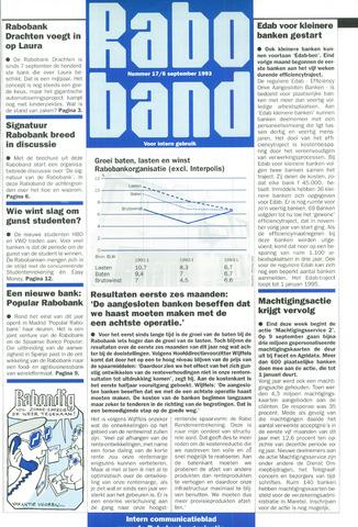 blad 'Raboband' 1993-09-06