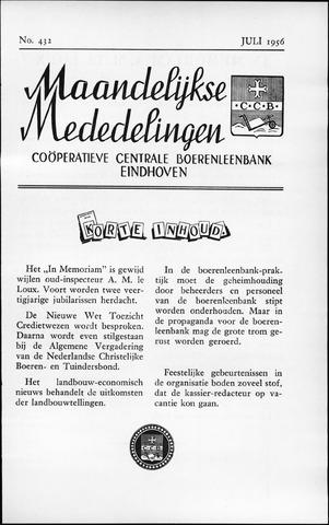 blad 'Maandelijkse Mededelingen' (CCB) 1956-07-01