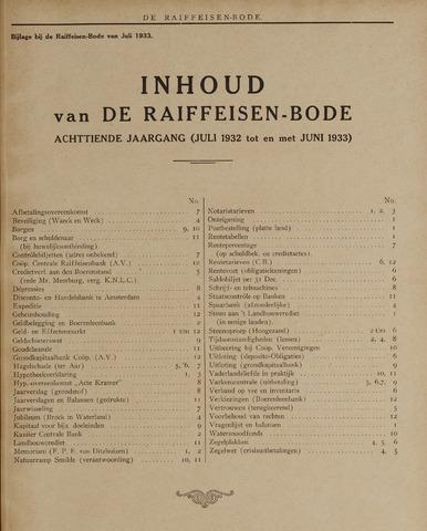 blad 'De Raiffeisen-bode' (CCRB) 1932-07-01