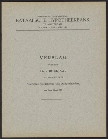 Jaarverslagen Bataafsche Hypotheekbank 1934