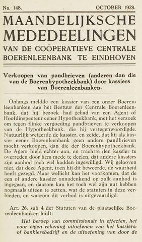 blad 'Maandelijkse Mededelingen' (CCB) 1928-10-01