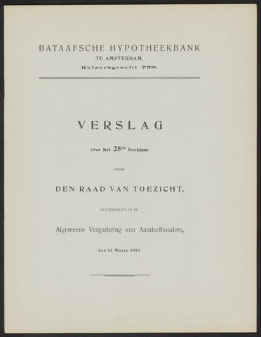 Jaarverslagen Bataafsche Hypotheekbank 1914