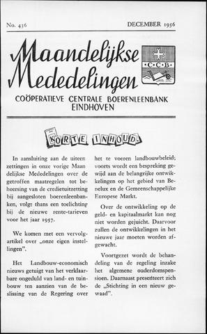 blad 'Maandelijkse Mededelingen' (CCB) 1956-12-01