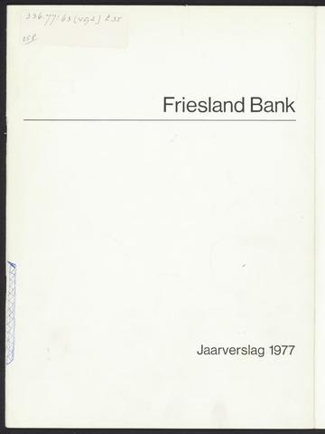 Jaarverslagen Friesland Bank 1977