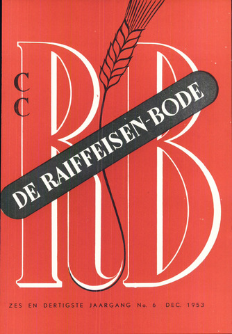 blad 'De Raiffeisen-bode' (CCRB) 1953-12-01