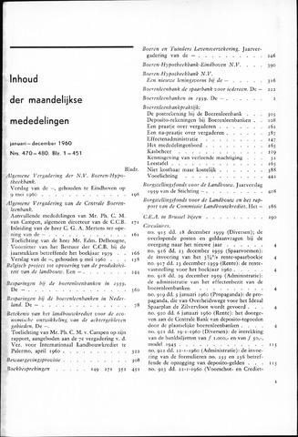 blad 'Maandelijkse Mededelingen' (CCB) 1960