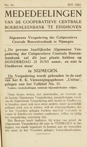 blad 'Maandelijkse Mededelingen' (CCB) 1923-05-01