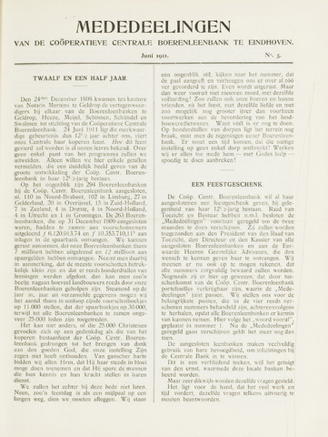 blad 'Mededeelingen' (CCB) 1911