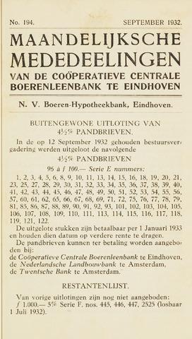 blad 'Maandelijkse Mededelingen' (CCB) 1932-09-01